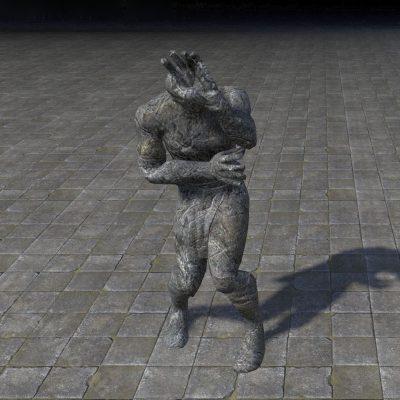 Cowering Statue