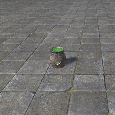 Jar of Green Dye