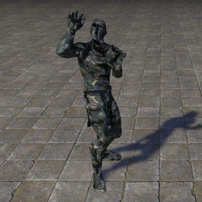 Statue, Cowering Ebony
