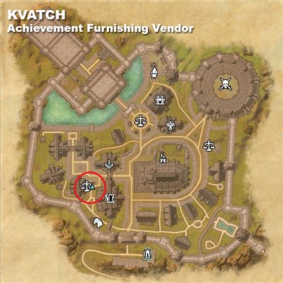 Kvatch - Achievement Furnishing Vendor Location