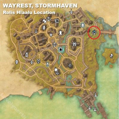 Wayrest Rolis Location
