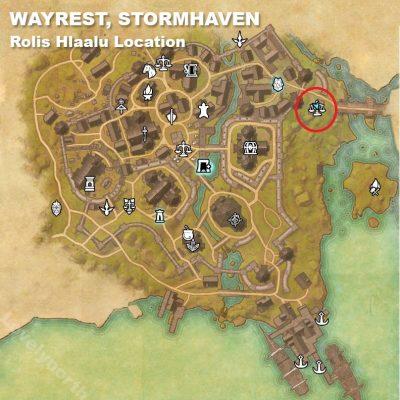 Wayrest Rolis Location