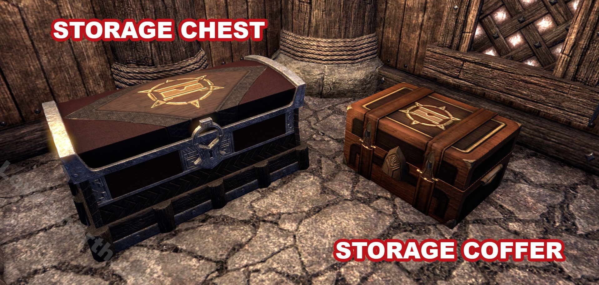 ESO Storage Container Appearance & Home Storage for Elder Scrolls Online (ESO) Housing