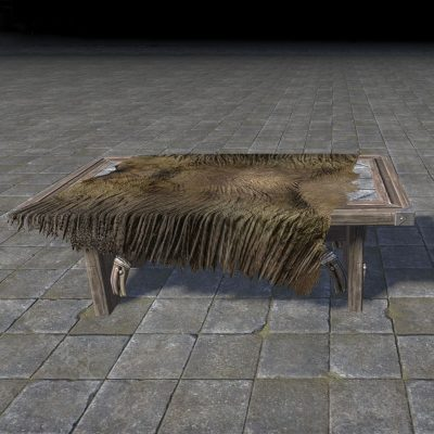 Orcish Table with Fur