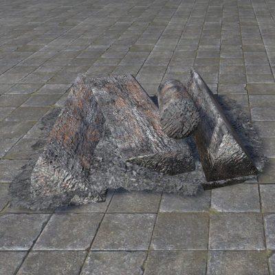Rough Firewood, Fireplace