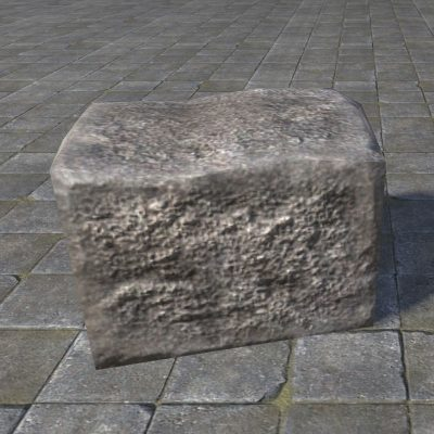 rough block stone