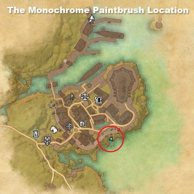 the monochrome paintbrush location