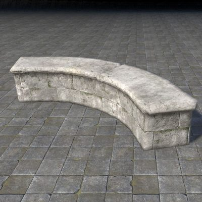 Limestone Retaining Wall, Curved