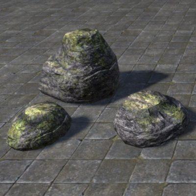 Stones, Gray Mossy