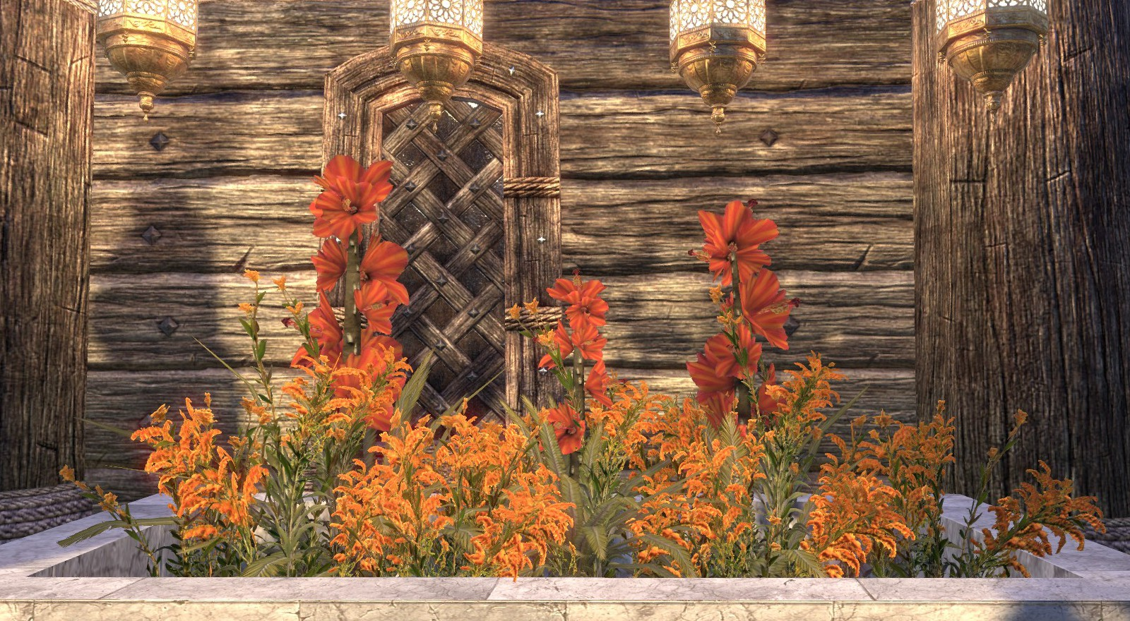 Flowers Hibiscus Goldenrod