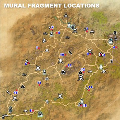 Elsweyr Mural Fragment Locations