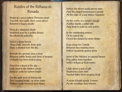 Riddles of the Rithana-di-Renada 1