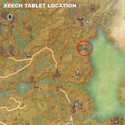 Xeech Tablet Location