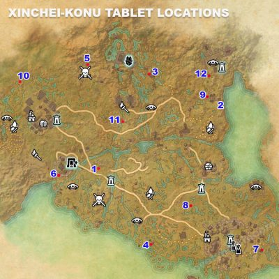 Xinchei-Konu Tablet Locations