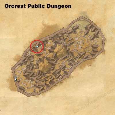 Orcrest Public Dungeon Fragment location