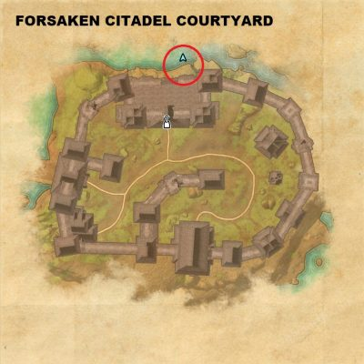 Forsaken Citadel Courtyard - Hiijar's Tapestry Piece Location