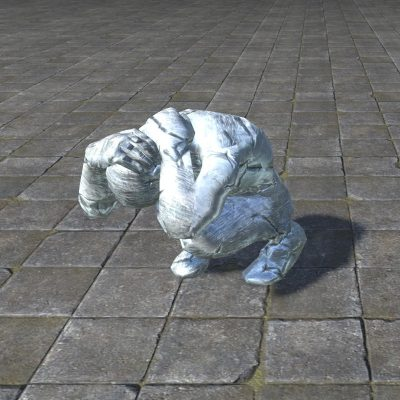 Ice Statue, Cowering Wretch