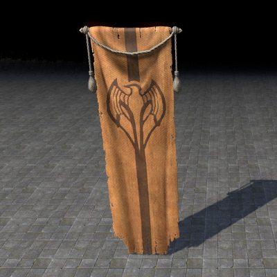 Kyne's Aegis Banner, Hanging