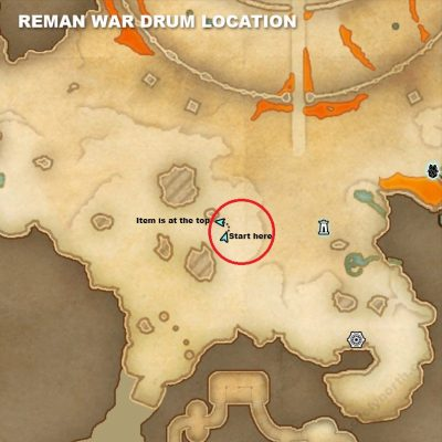 Reman War Drum Location