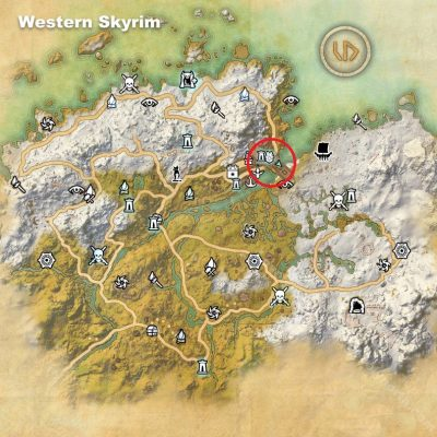 Western Skyrim Bard's College Location